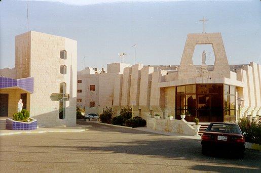 Moderní kostel Panny Marie Vítězné v Ammánu