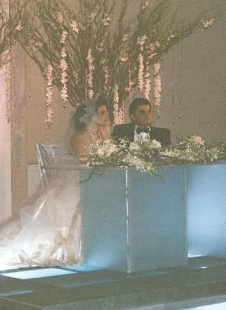 Pódium ženicha a nevěsty